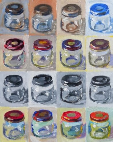 Ten Minute Jars, 2013, painting by artist Diane Mannion
