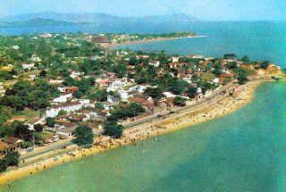 Sepetiblog: A Sepetiba de ontem - Nessa foto em primeiro plano a Praia de Sepetiba, e ao fundo, a praia de D. Luiza.
