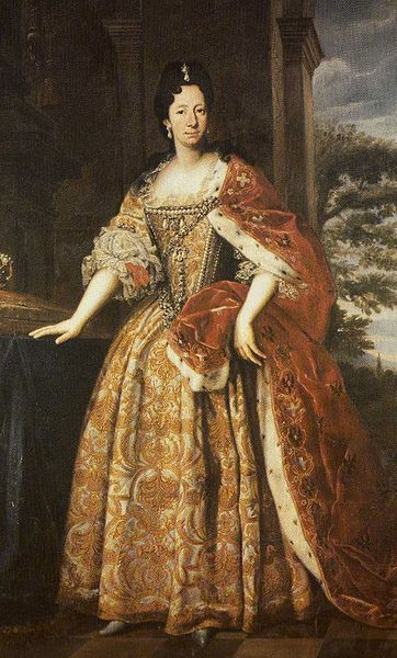Anne Marie d'Orléans as duchess of Savoy (1669-1728), youngest child of Philippe d'Orleans and Henriett-Anne of England.