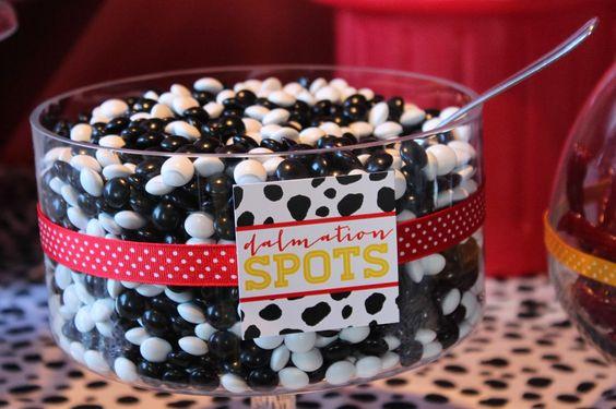 "Disney Theme - ""Dalmatian spots"" sweet treats for a sweet buffet is such a cute idea."