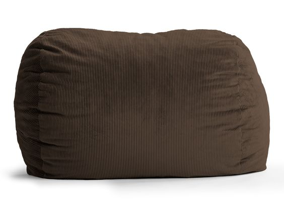Wide-Wale Corduroy Chocolate 6 Ft Xl Fuf Chair