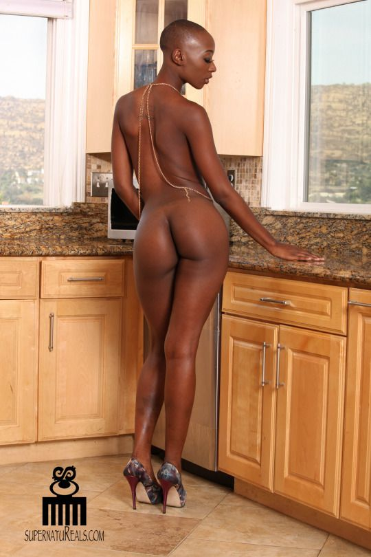 women bald naked black
