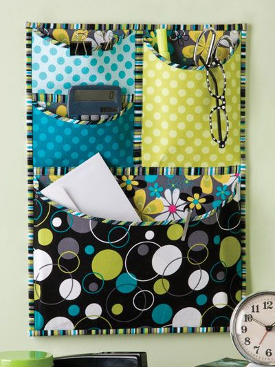 Sewing Secrets: 6 Projects For The Sewing Room (4 pocket wall organizer in the picture is my fave!)