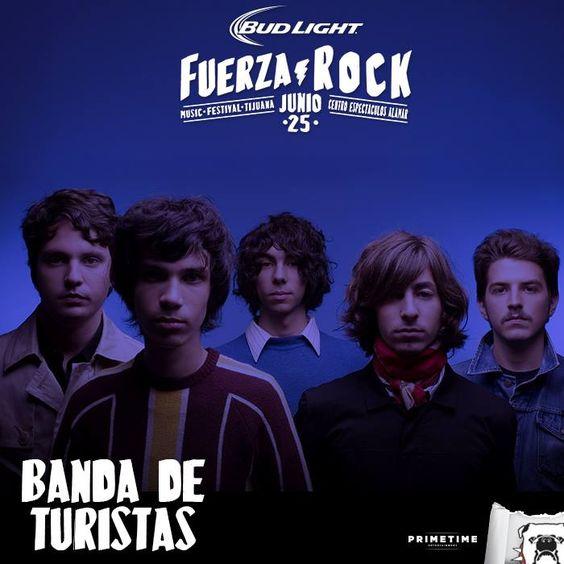 Estamos a sólo 16 días! Banda de Turistas presente en el Fuerza Rock Festival 2016.  Info: http://tjev.mx/FuerzaRock2016