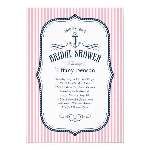 Nautical Bridal Shower Invitations