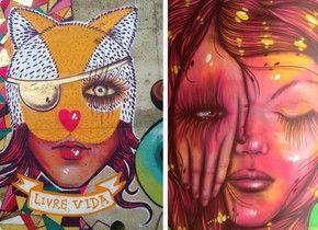 Telão do Domingão apresenta o trabalho de Panmela Castro