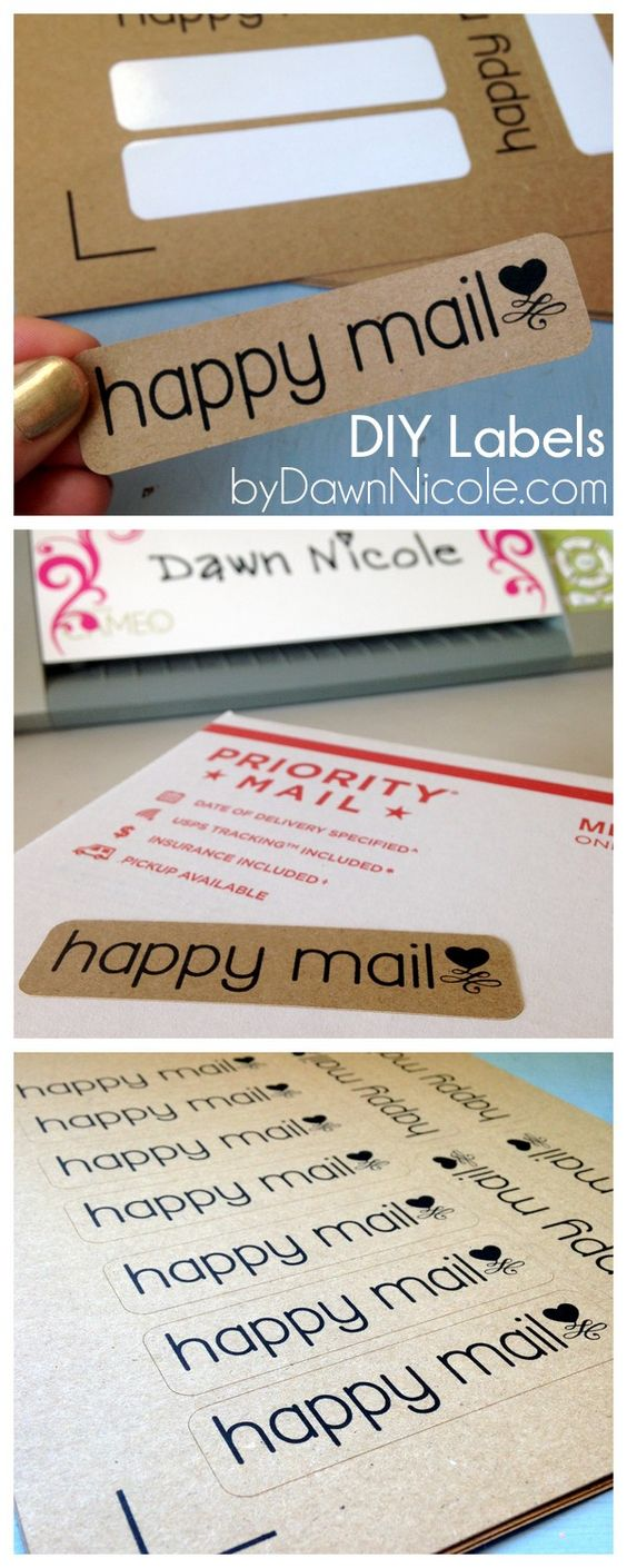 DIY Labels | Silhouette Print & Cut Tutorial | Happy Mail Labels ByDawnNicole.com