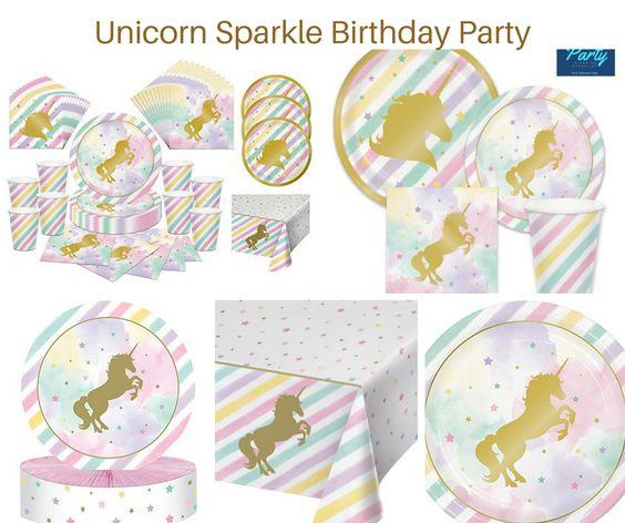 Unicorn Sparkle Birthday Party