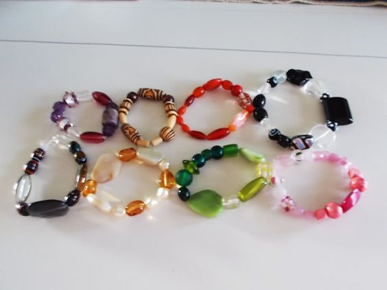 SALE  beaded bracelets   five dollars  cheap by SecChnceTreasure, $5.00