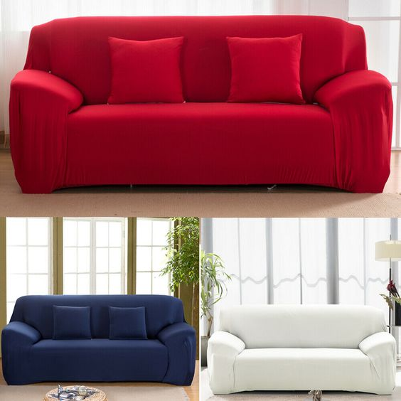 L Shaped 1 4 Seater Sofa Cover Couch Furniture Chair Elastic Slipcover Protector In 2020 Slip Covers Couch Couch Furniture Modern Couch