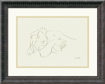 'Sleeping Model' Framed Print by Henri Matisse traditional-prints-and-posters