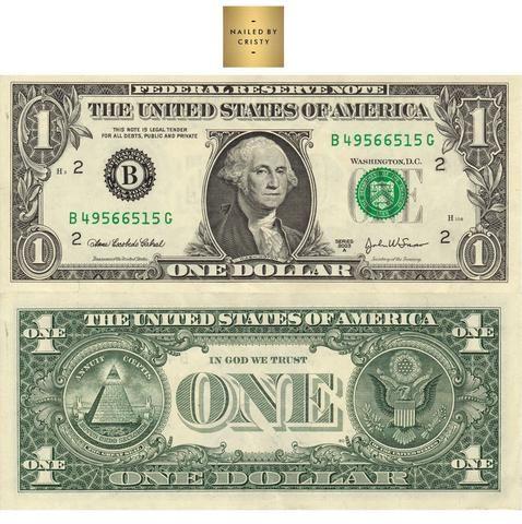 Decals Dollar Bill Front Back One Dollar Bill Dollar Note Money Printables