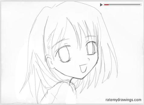Easy Draw Anime | How to draw Anime! on my style :D | How ...