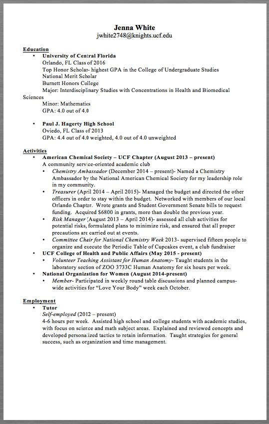 Student Employment Resume Example -    resumesdesign - Construction Foreman Resume