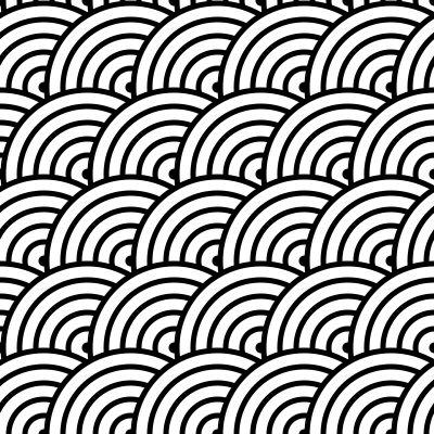 青海波文様の幾何学模様