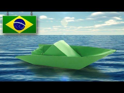 Como Fazer Um Barco De Papel Realista Tutorial De Origami
