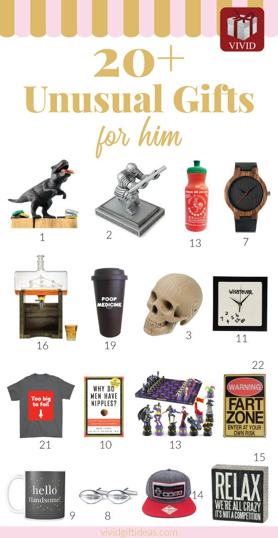Unusual Gift Ideas For Men 30 Unique Gifts He Ll Love Novelty Gifts For Men Unusual Christmas Gifts Unusual Gifts