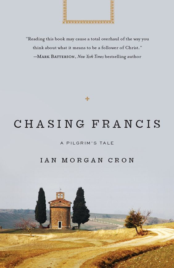 Chasing Francis: A Pilgrim's Tale by Ian Morgan Cron. What happens when the pastor of a mega church loses his faith? Pastor Chase Falson has lost his faith in God, the Bible, evangelical Christianity, and his super-sized megachurch. When he falls apart, the church elders tell him to go away. Join Chase on his life-changing journey to Italy where, with a curious group of Franciscan friars, he struggles to resolve his crisis of faith by retracing the footsteps of Francis of Assisi.