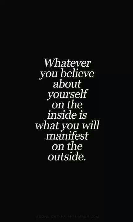It's about what you believe