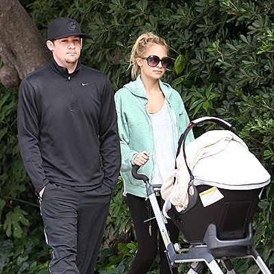 """PARTY OF THREE  So who's the tougher parent? Madden says he prefers to """"do all the fun stuff and break some of the rules,"""" while girlfriend Richie keeps """"everything in order."""" Regardless, he says parenthood is """"the best thing that's ever happened to us."""""""