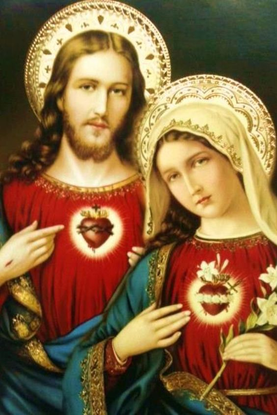 Sacred Heart of Jesus and the Immaculate Heart of Mary.: