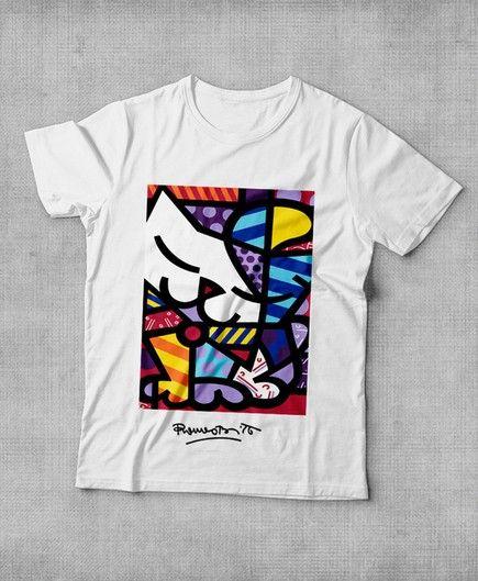 Camiseta Romero Britto nature R$32,90 - Camiseta Top Quality: Tecido 100% algodão; - Impressão com Cores vibrantes - Transfer a Lazer com contorno imperceptível