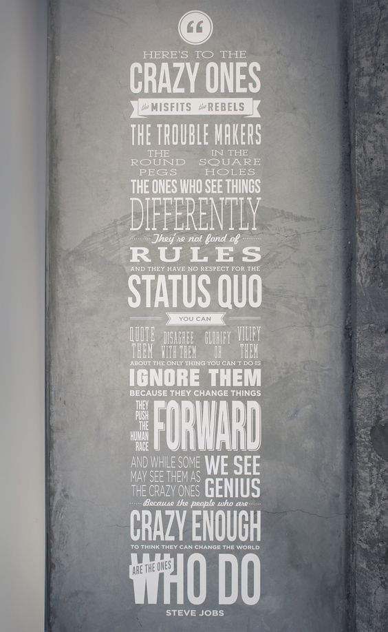 Steve Jobs Quote // Wall Art (amazing)