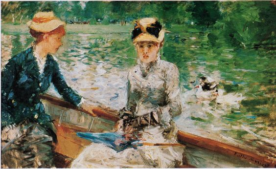 The Lake in the Bois de Boulogne by Berthe Morisot, 1879