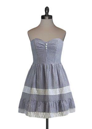 Sweet Stripes Seersucker Dress