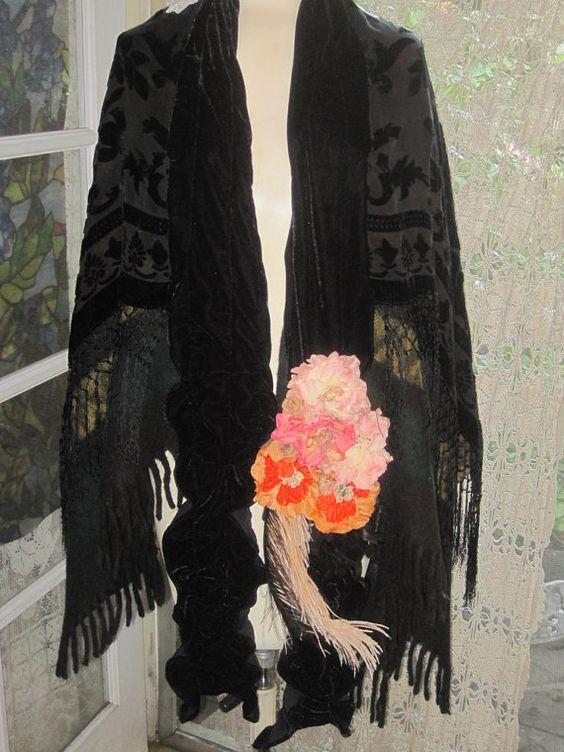Darling GOTHIC Black Velvet and Floral STEVIE by julietsdream, $150.00