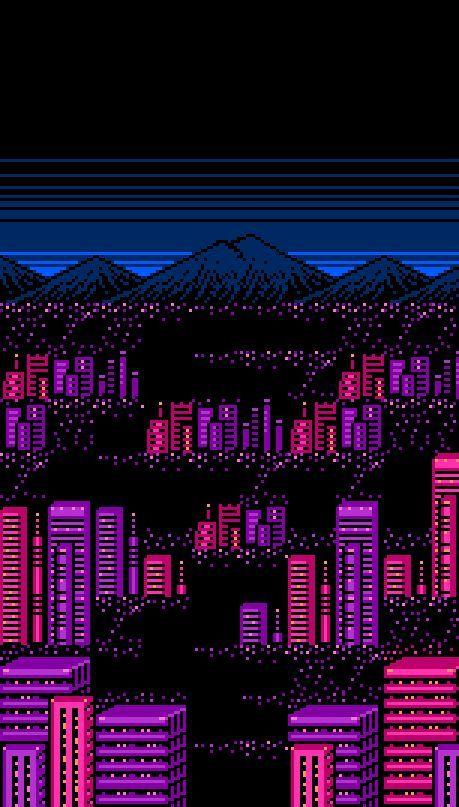All Things Pastel Iridescent Kawaii Vaporwave Harajuko Fairy Kei 8bit Art Gamertattoo 8bit Nes Retro Pixel Art Landscape Pixel Art Vaporwave Art