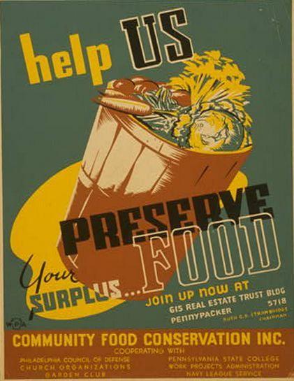 Help US... Preserve Food