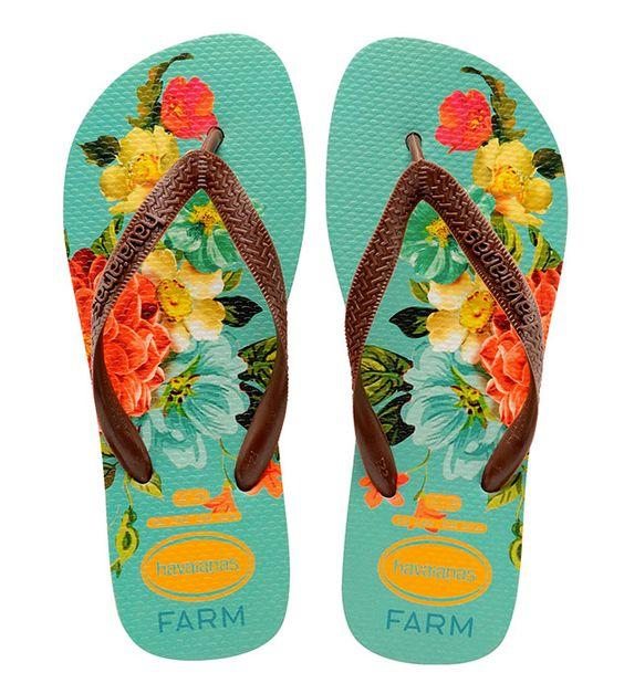 E a floral! Cada par custa R$ 54 e está disponível nas lojas da Farm e no e-commerce da marca a partir da 2ª quinzena de novembro: