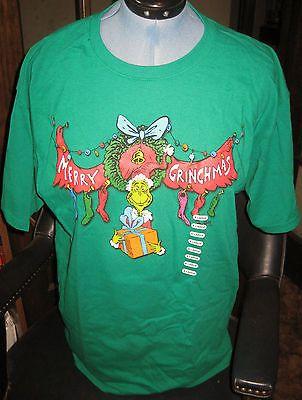Merry-Grinchmas-T-Shirt-Size-XL-Doctor-Dr-Seuss-NWT-Grinch-Kelly-Green