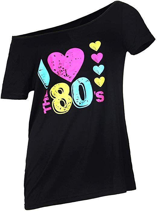 I Love The 80s Black Womens T Shirt