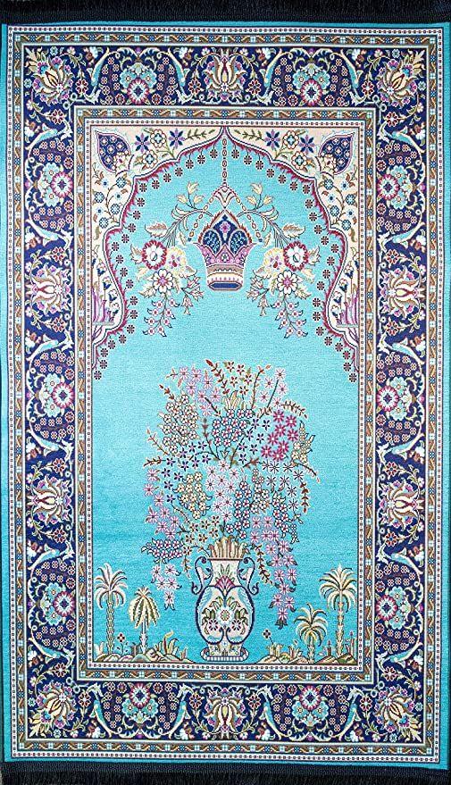 Amazon Com Benissimo Muslim Prayer Rugs Sajadah For Islam Printed Design Sultanahmet Collection Thick And Tight Islamic P In 2020 Muslim Prayer Rug Prayer Rug Rugs