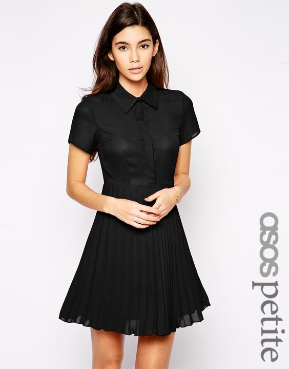ASOS PETITE Exclusive Shirt Dress with Pleated Skirt - would be a ...