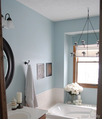 Bedroom walls nordic blue valspar sleep on it - Master bedroom and bathroom paint colors ...