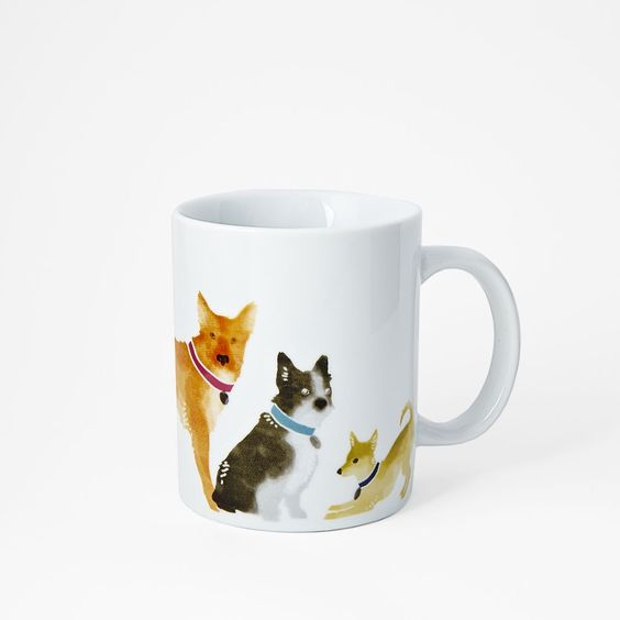 Charity mugs covered with puppies from the ASPCA!