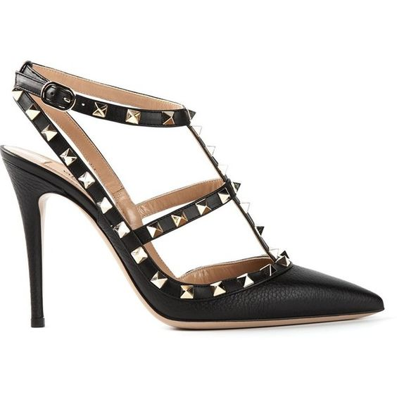 VALENTINO GARAVANI 'Rockstud Noir' pumps and other apparel, accessories and trends. Browse and shop related looks.
