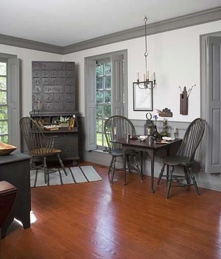 Dark Trim Matches Bookcases White Walls Wood Ceiling Interior Door Could Be An Exterior That Shows Off Cool Room Through Windo