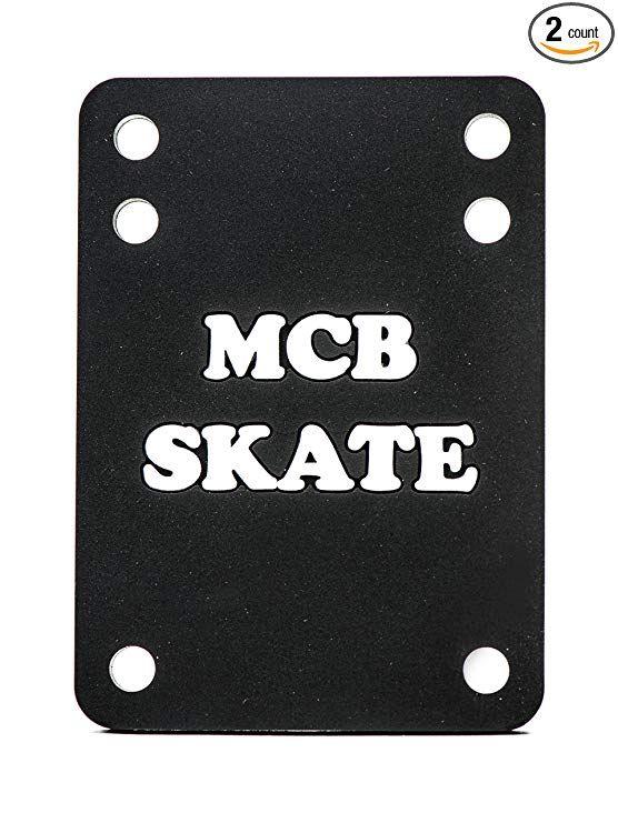 1//2 6mm 12mm Black 1//8 Rubber 14mm Angel Wedge Riser Pads VJ Longboard Skateboard Riser Pads Set of 2 Size 3mm 1//4