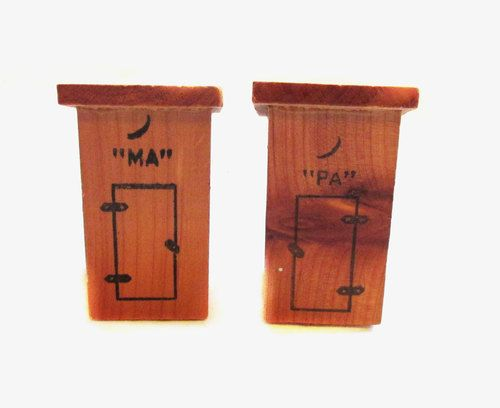 Vintage Salt and Pepper Shakers MA and PA by VintagePennyLane ☺ ☺