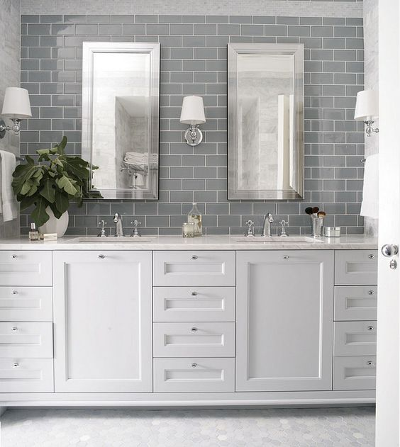 Bathroom Wall Tile And Floor Tile Wall Tile Is 3x6 Grey