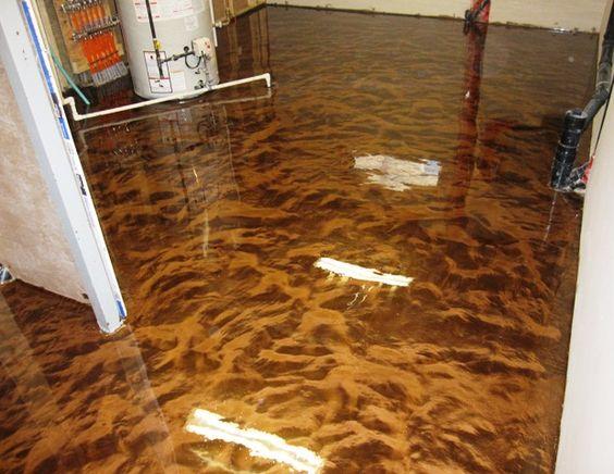 Epoxy Paint For Wood Subfloors Metallic Floors Decorating Ideas Pinterest Floor And