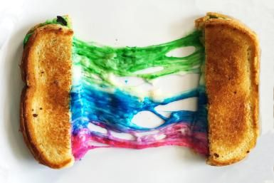 How to Make a Rainbow Grilled Cheese Sandwich: by Grilled Cheese Social
