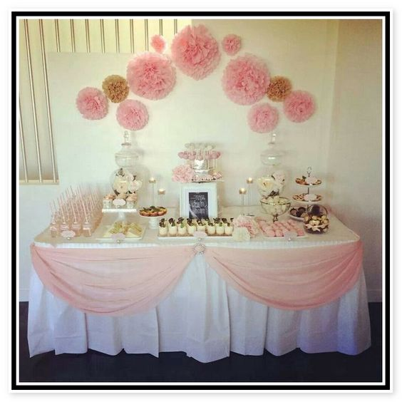 1000 ideas about baptism table decorations on pinterest for Baby girl baptism decoration ideas