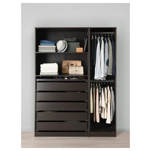 Pax Ballstad Guardaroba.Ikea Pax Black Brown Undredal Black Wardrobe House