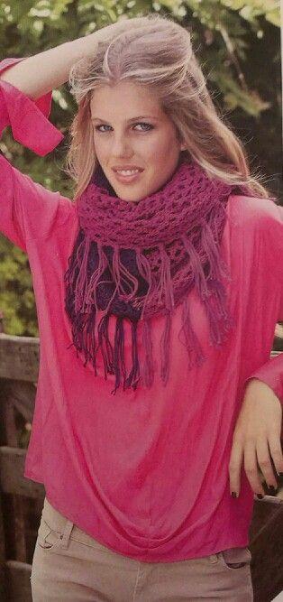 Crochet, bufanda calada