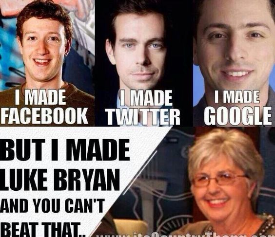 Luke bryans, Haha and Thank you for on Pinterest